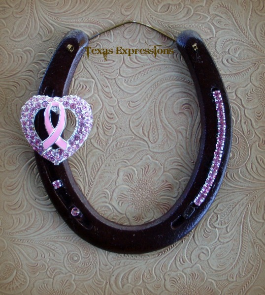 Breast Cancer Awareness Horseshoe