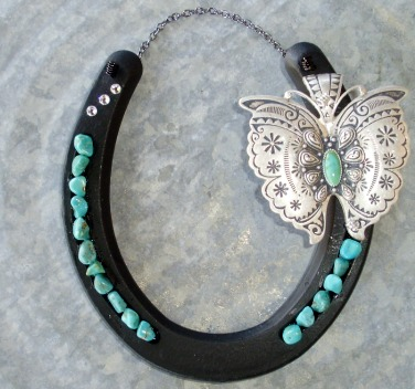 Butterfly & Turquoise Horseshoe