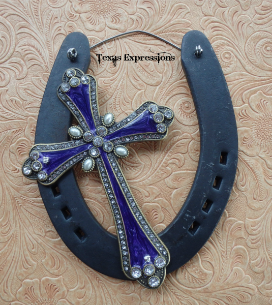 Purple Cross Horseshoe