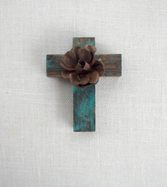 Rustic Turquoise Cross