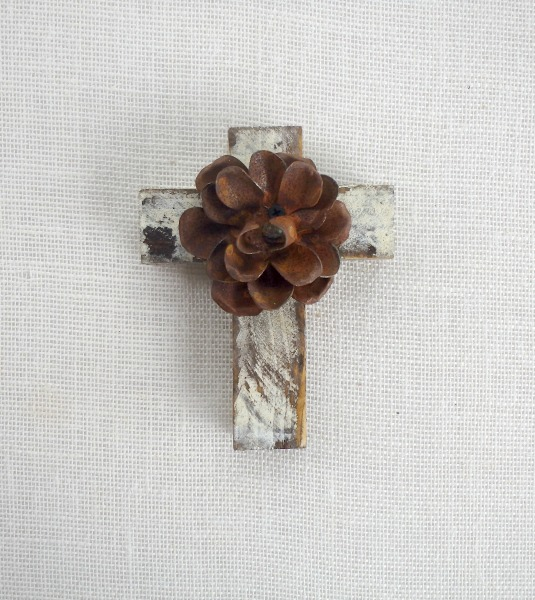 Rustic White Cross
