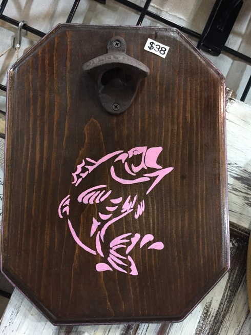 Jumping Bass - Pink - Magnetic Bottle Opener