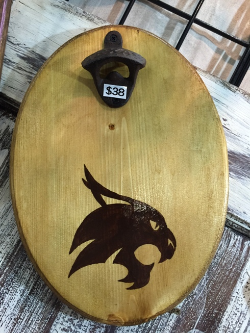 Texas State Bobcat Magnetic Bottle Opener