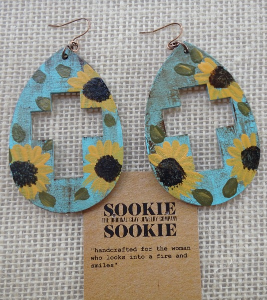 Sookie Sookie Cross Cutout  Sunflowers
